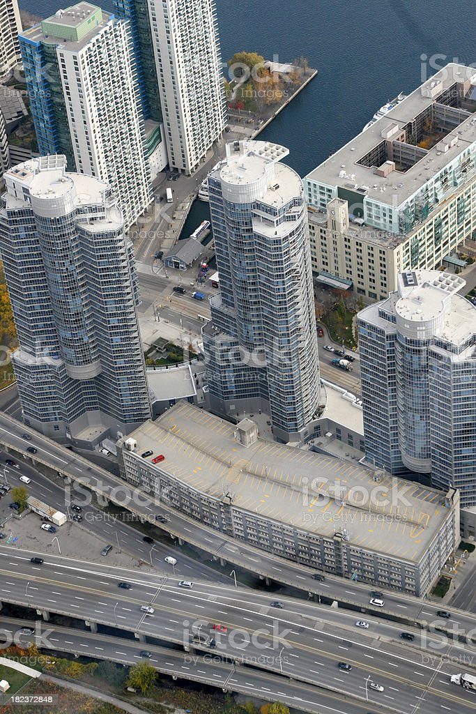 cn tower view royalty-free stock photo