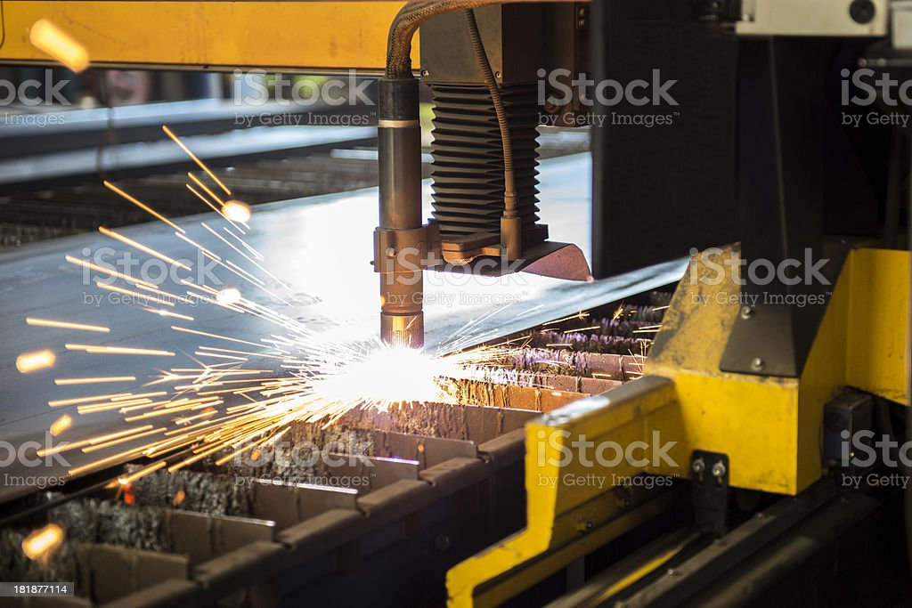 cnc laser cutter stock photo
