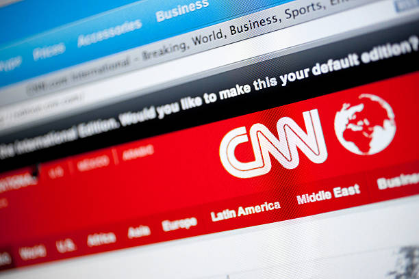 Cnn logo and website stock photo