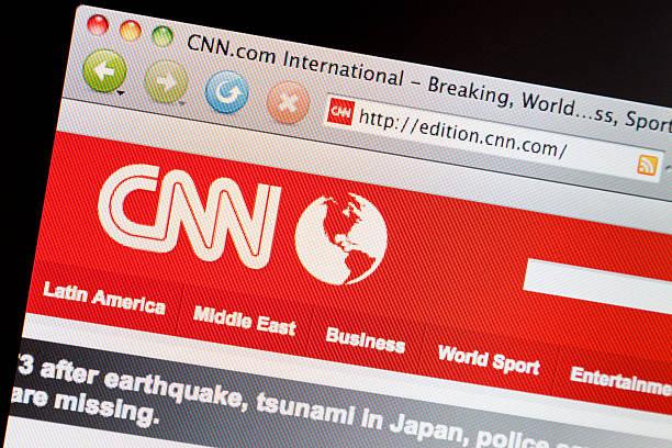 CNN.com website viewed on computer screen. stock photo