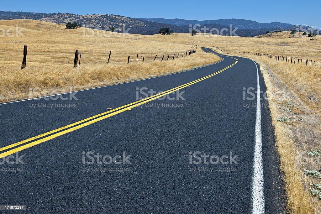 Co Highway J 16 to Mariposa California USA royalty-free stock photo