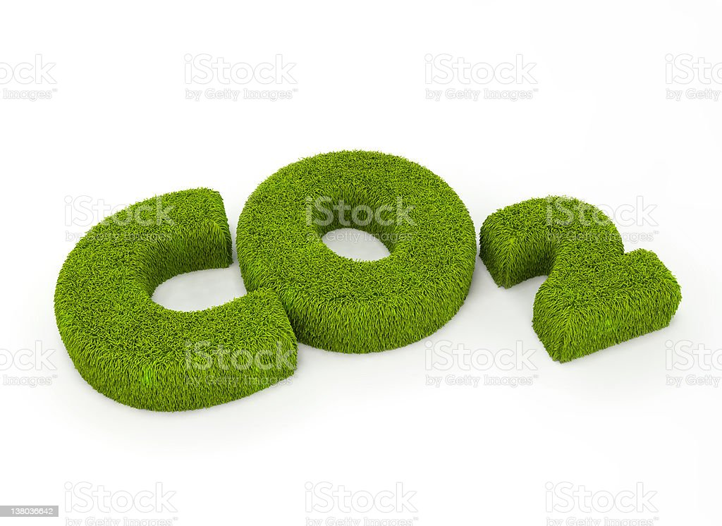Co2 grass illustration royalty-free stock photo