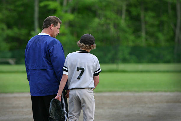 coach & dad stock photo