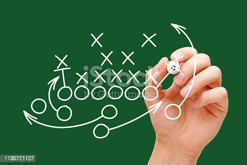 istock Coach Drawing American Football Playbook 1130721127