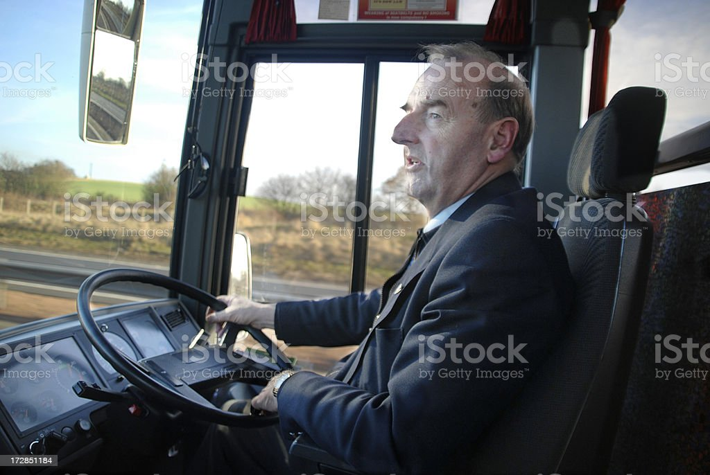 Coach Driver 2 stock photo