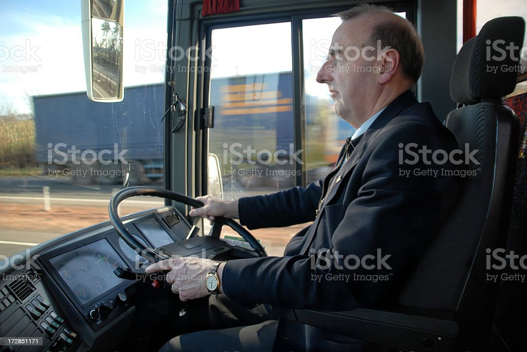 Coach Driver stock photo