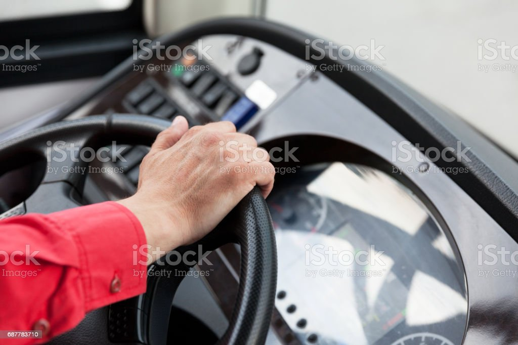 Coach or bus driver stock photo