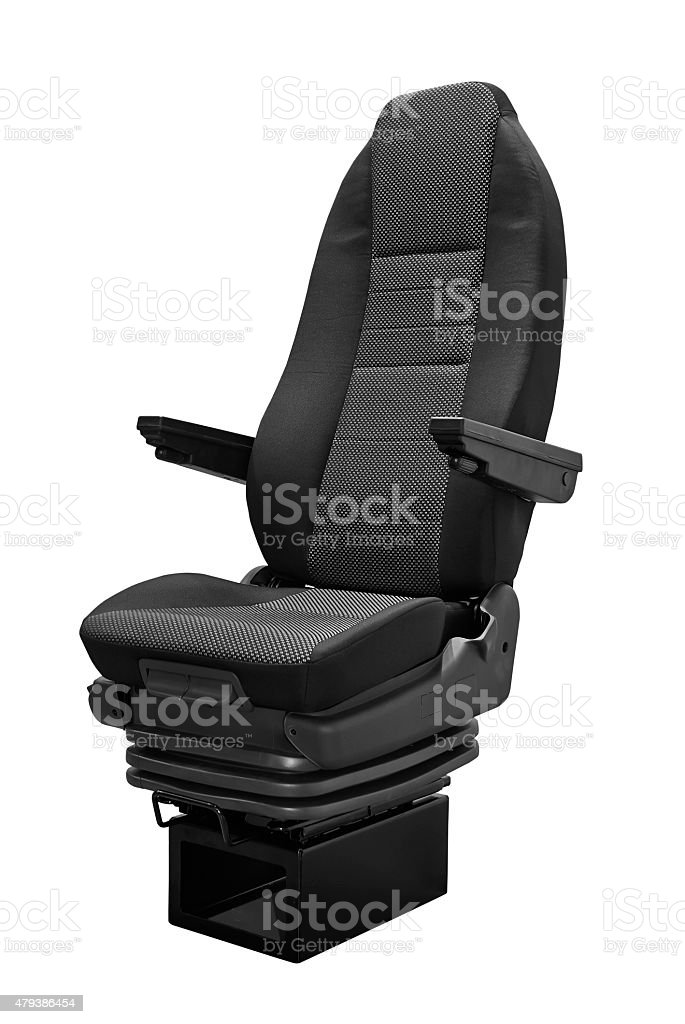 Coach seat isolated on white background stock photo