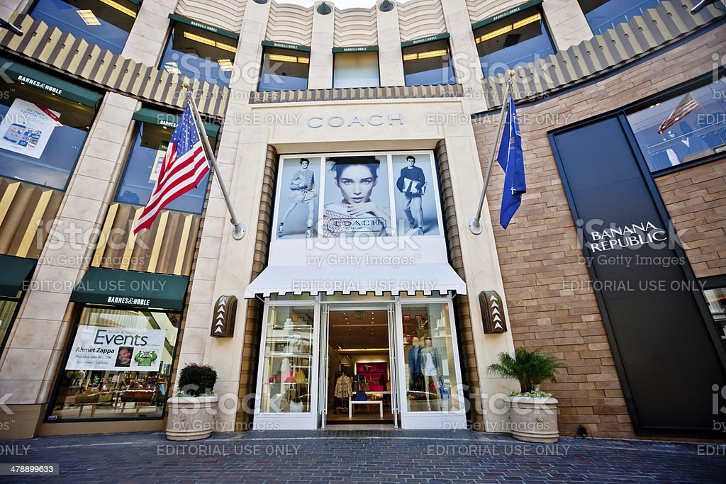 Coach Store at The Grove, Los Angeles stock photo