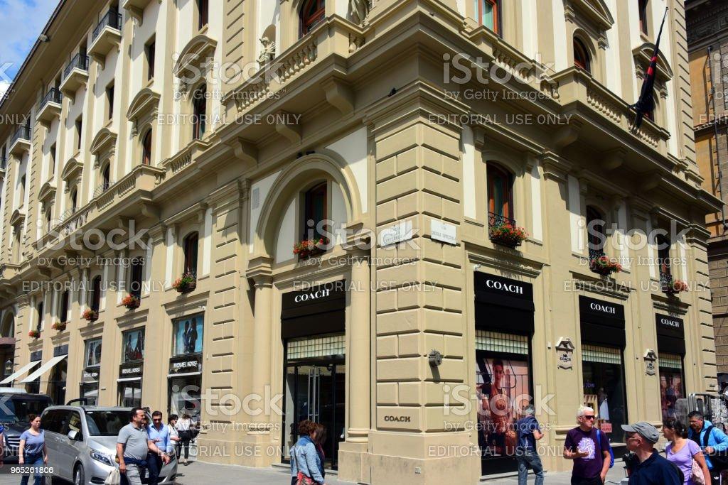 Coach store in Florence, Italy zbiór zdjęć royalty-free