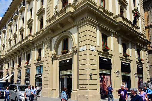 Coach store in Florence, Italy
