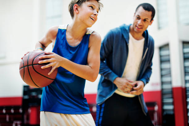 Coach Team Athlete Basketball Bounce Sport Concept - foto stock