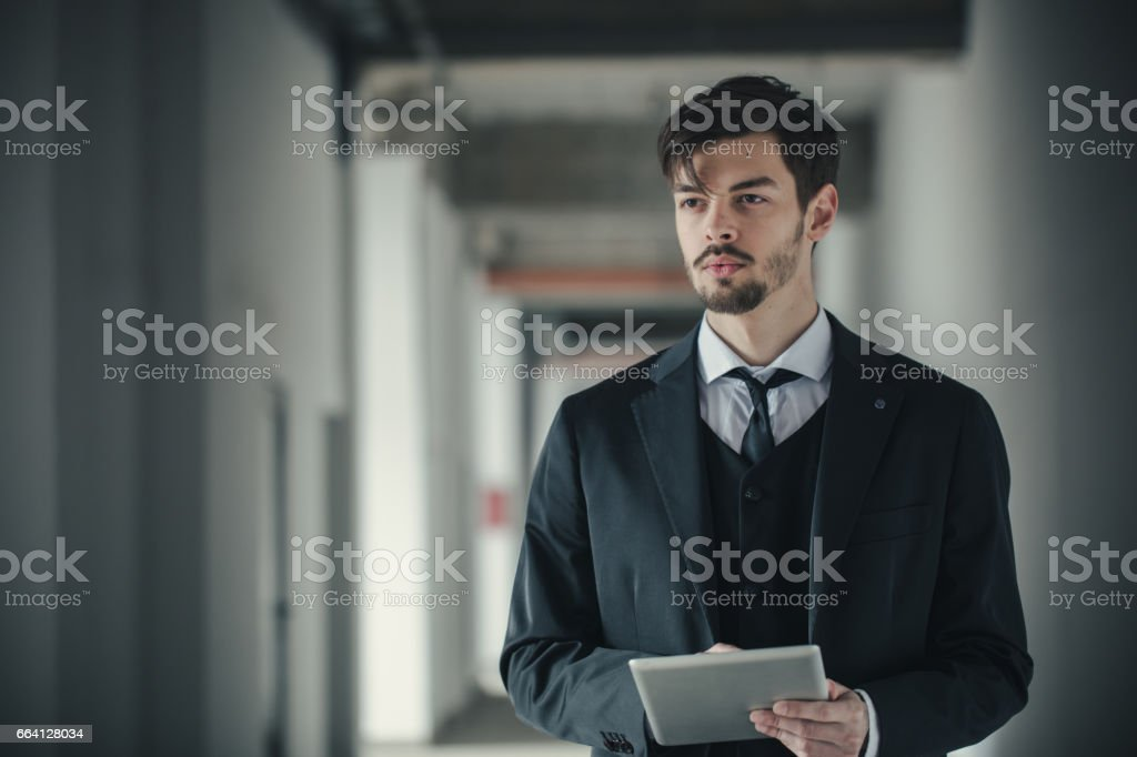 Coach using tablet foto stock royalty-free