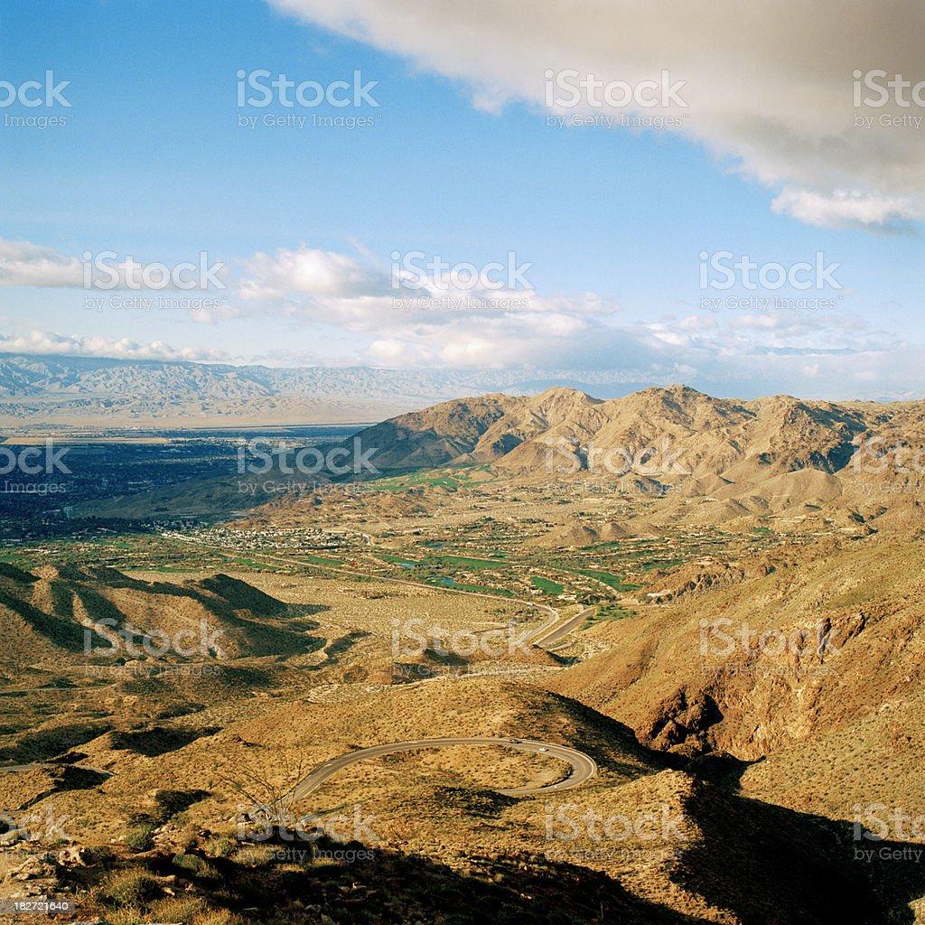Coachella Valley and Indian Wells, California stock photo