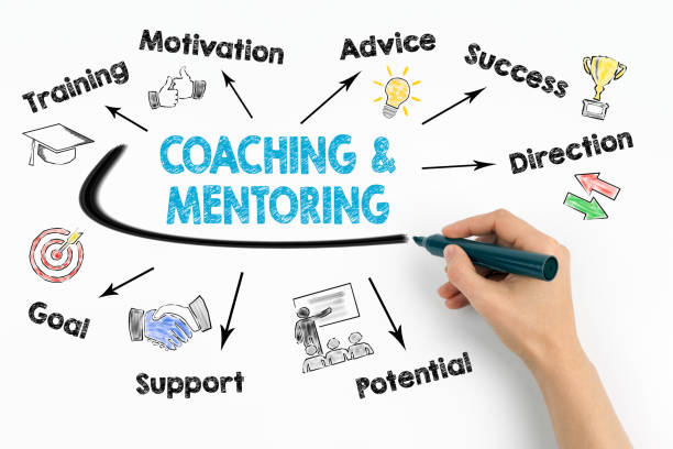 coaching and mentoring concept - coach stock photos and pictures