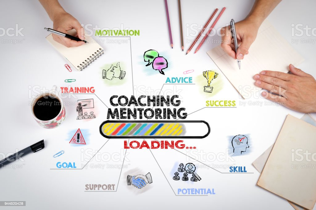 Coaching and Mentoring Concept stock photo