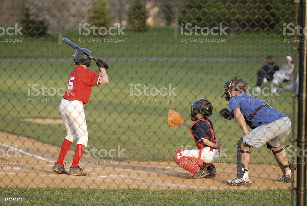 Coaching Baseball Player royalty-free stock photo