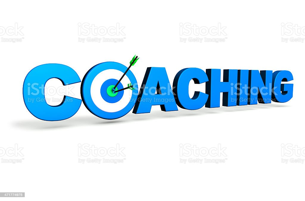 Coaching Business Target Concept royalty-free stock photo