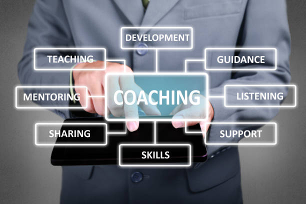 coaching in business concept - teaching stock photos and pictures