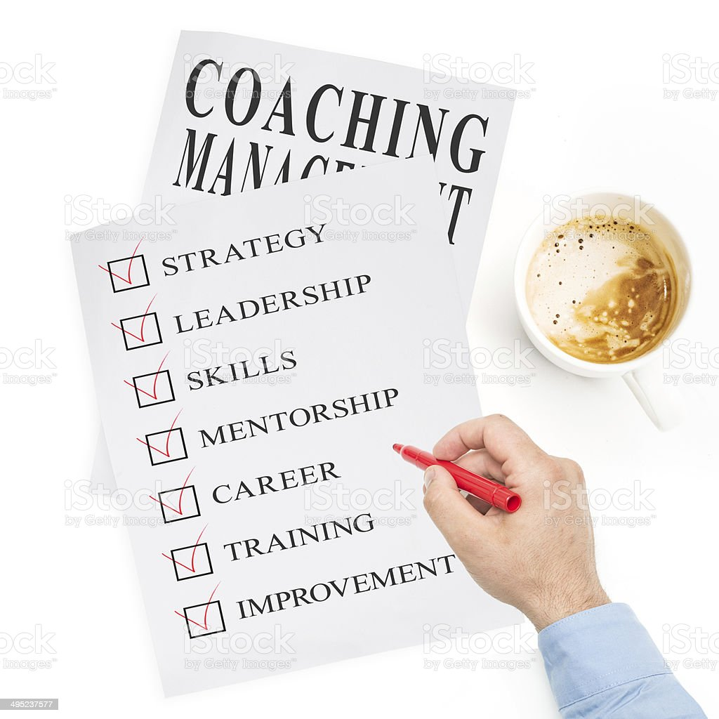 Coaching stock photo