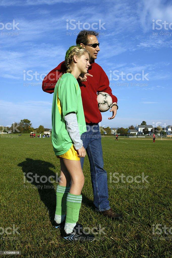coaching soccer royalty-free stock photo