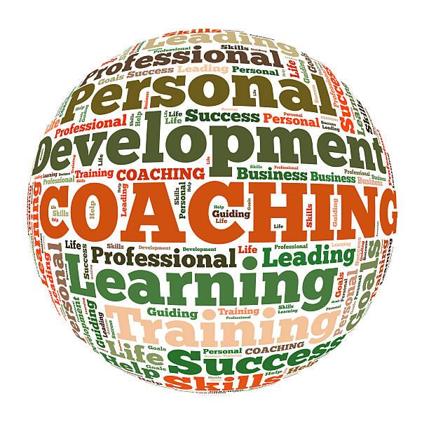 coaching word cloud – Foto