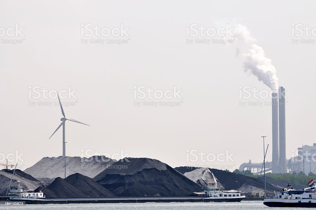 Coal and energy plant royalty-free stock photo