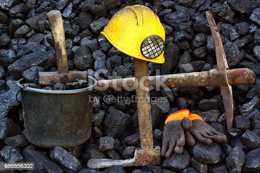 istock Coal and tools 686556302