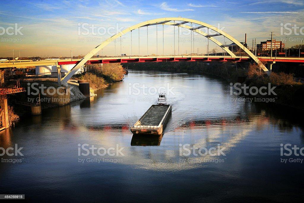 Coal Barge stock photo