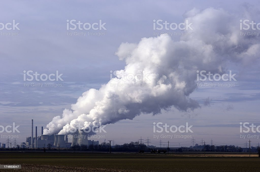 Coal burning power plant royalty-free stock photo