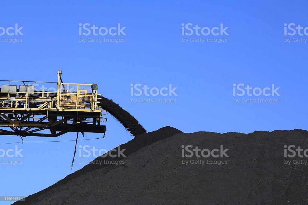 Coal Conveyor Belt stock photo