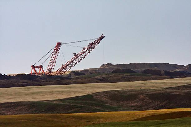 Coal draglines in Southern Saskatchewan stock photo