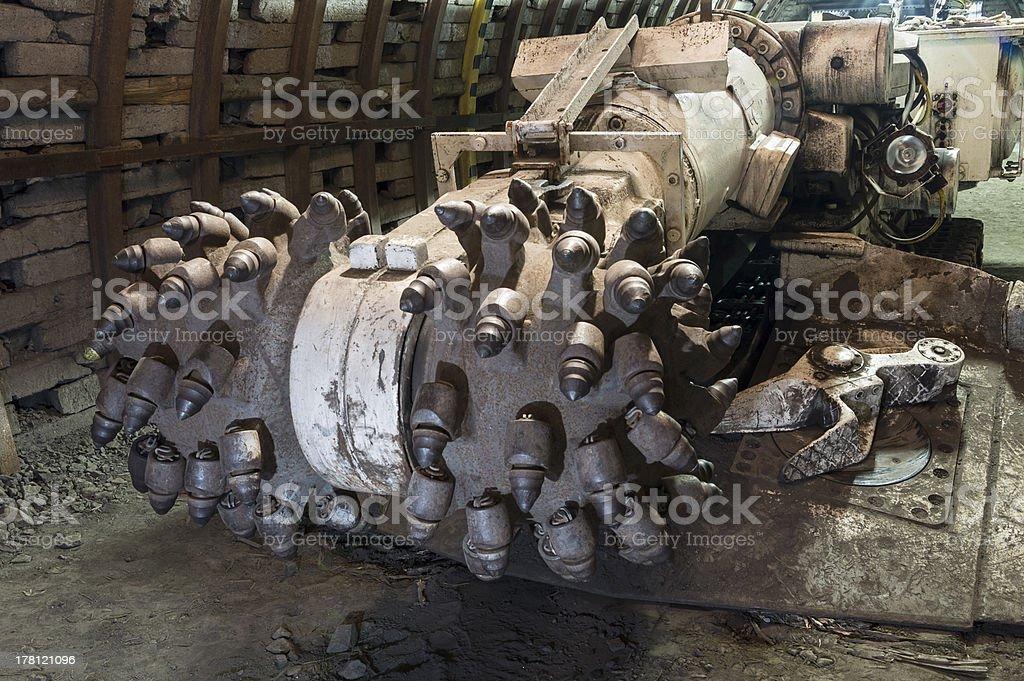 Coal extraction: mine combine royalty-free stock photo