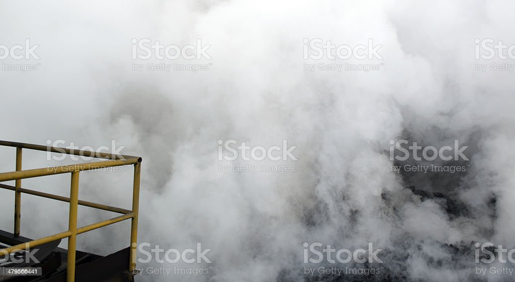 Coal fire whit smoke royalty-free stock photo