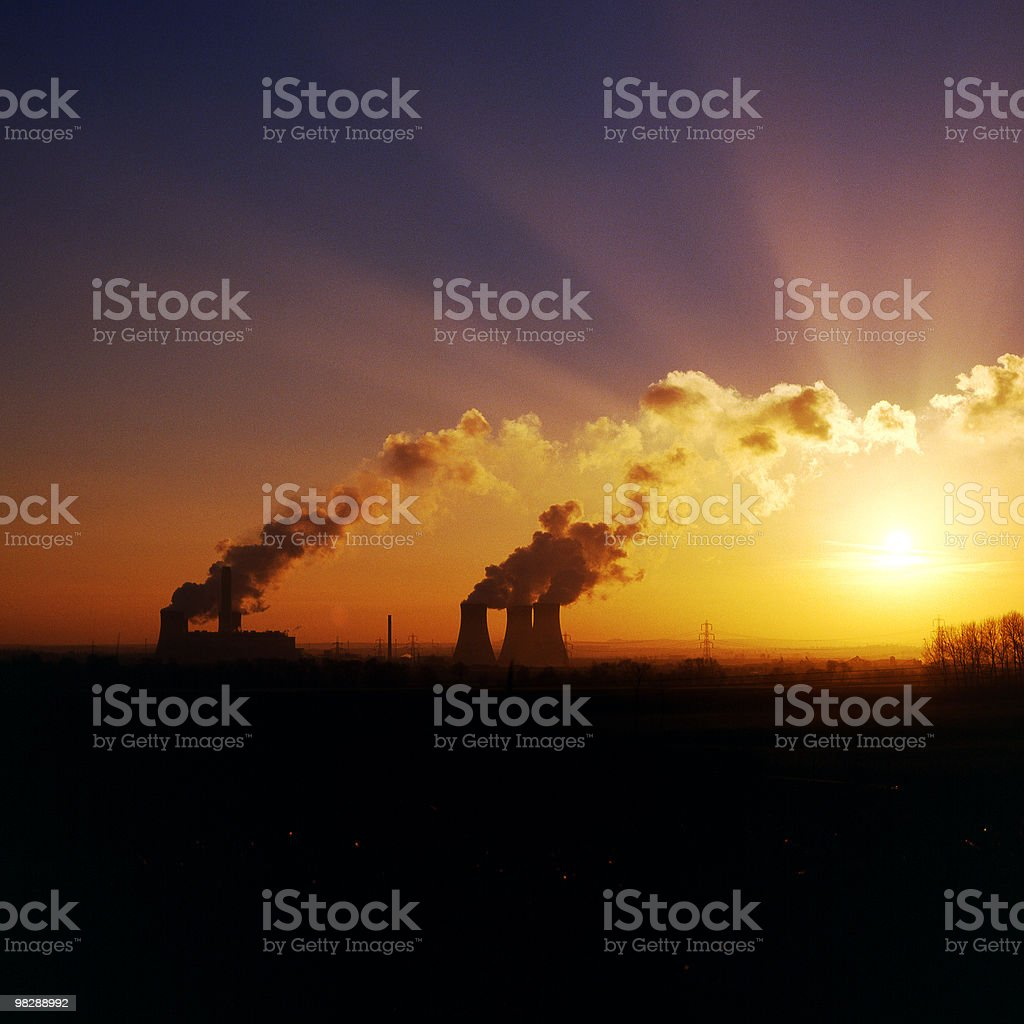 Coal fired Power Station at Didcot in Oxfordshire. England royalty-free stock photo