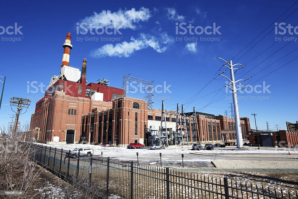 Coal Fired Power Station in South Lawndale, Chicago royalty-free stock photo