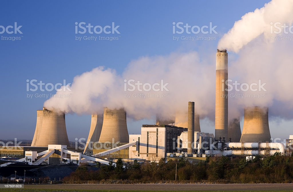 Coal fueled power station. royalty-free stock photo
