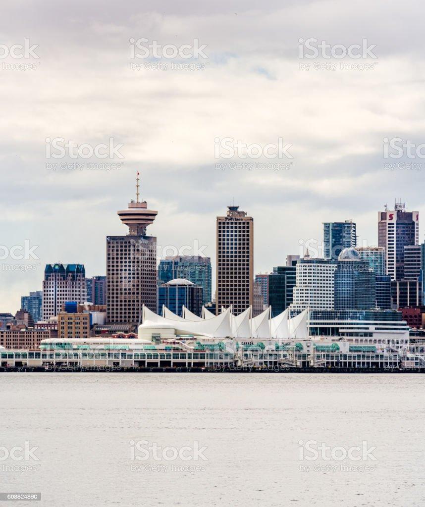 Coal Harbor of Vancouver stock photo