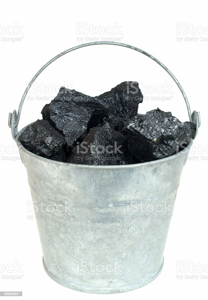 Coal in bucket royalty-free stock photo