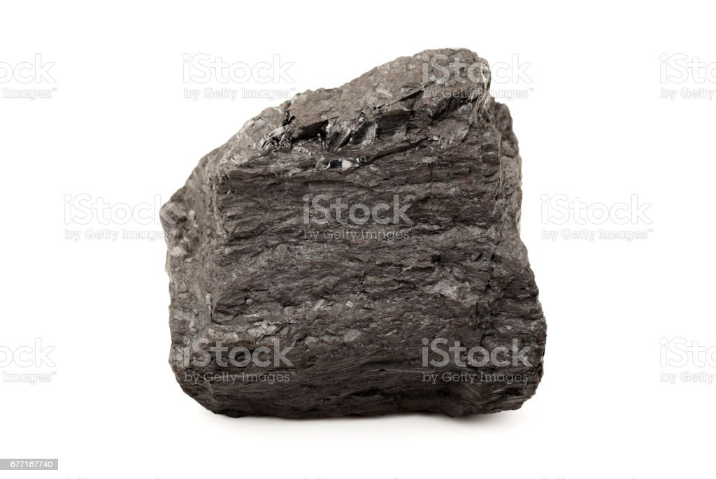 coal  isolated on a white background stock photo