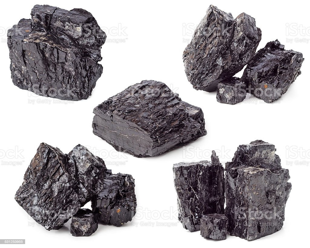 Coal isolated stock photo