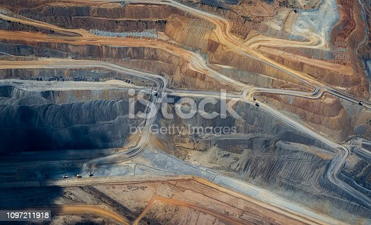 flying over a coal mine in Queensland Australia, aerial abstract