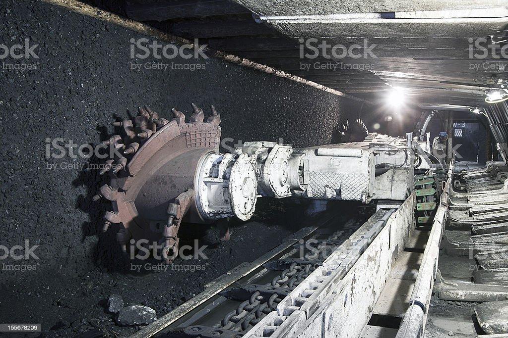 Coal mine dragline excavator machine stock photo