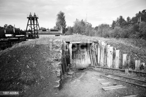 Coal mine entrance on the east side of Glasgow.