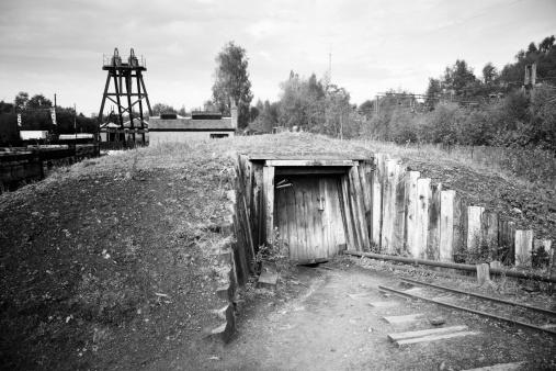 Coal mine entrance on the east side of Glasgow.