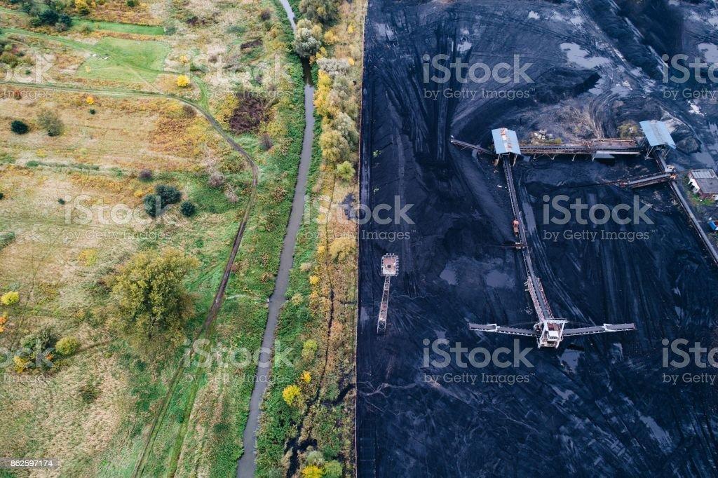 Coal mine in Silesia, Poland. stock photo