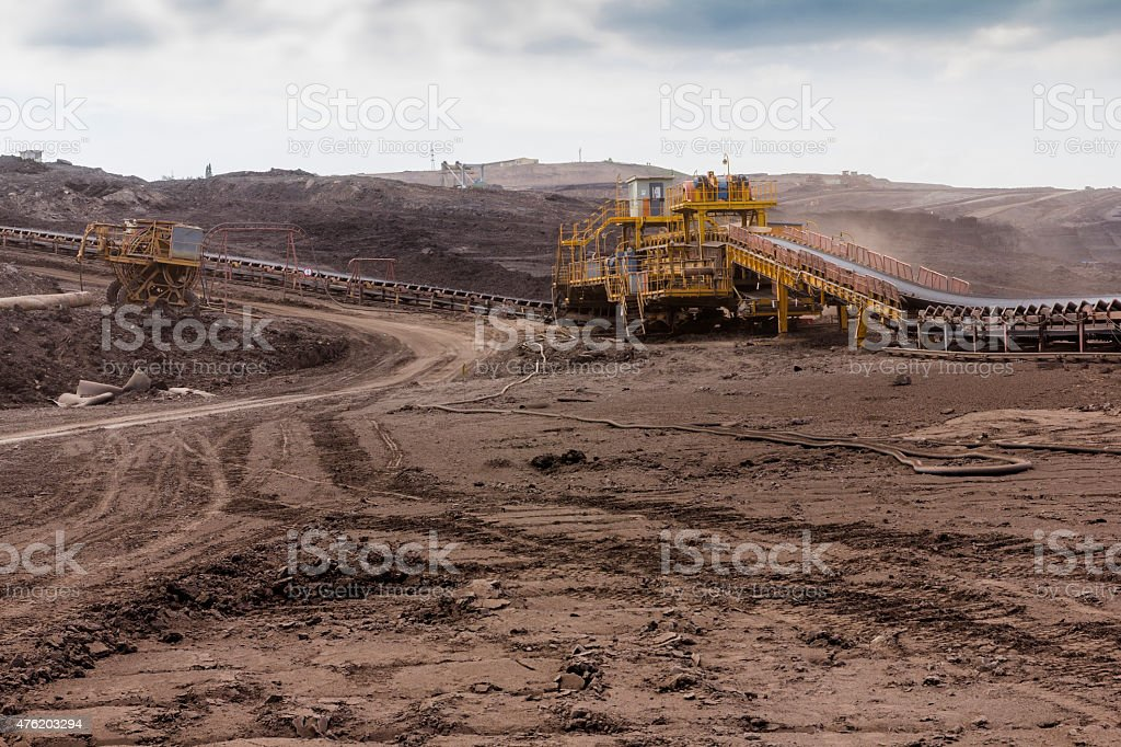 coal mine stock photo