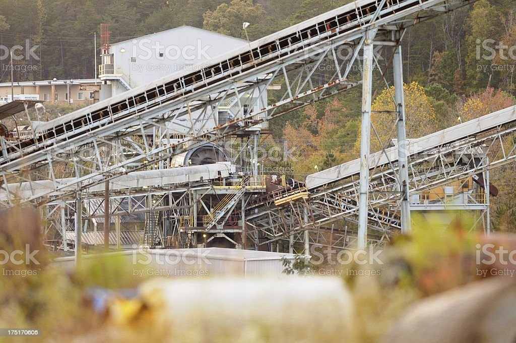 Coal mine procesing plant royalty-free stock photo