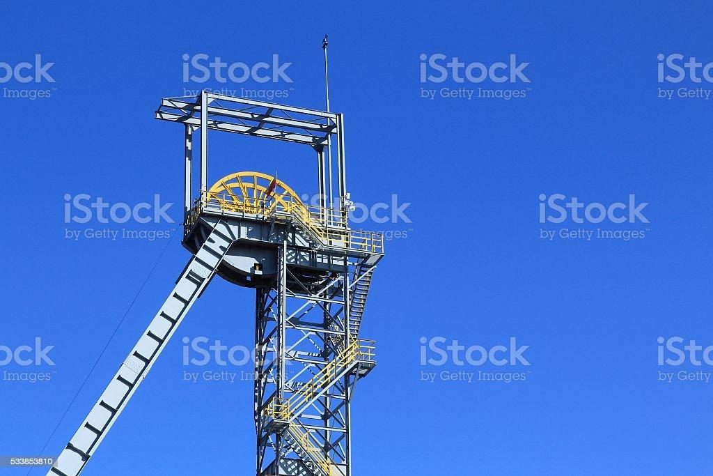 Coal mine shaft stock photo