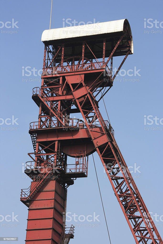 Coal mine shaft royalty-free stock photo